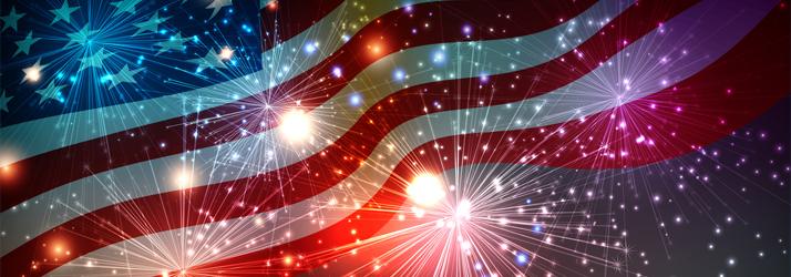 United States Flag & Fireworks
